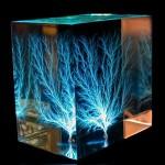 Elektrický výboj v kocke