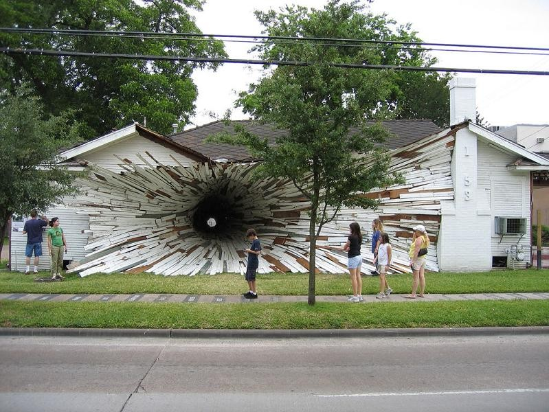 tunnel-going-through-exploding-house