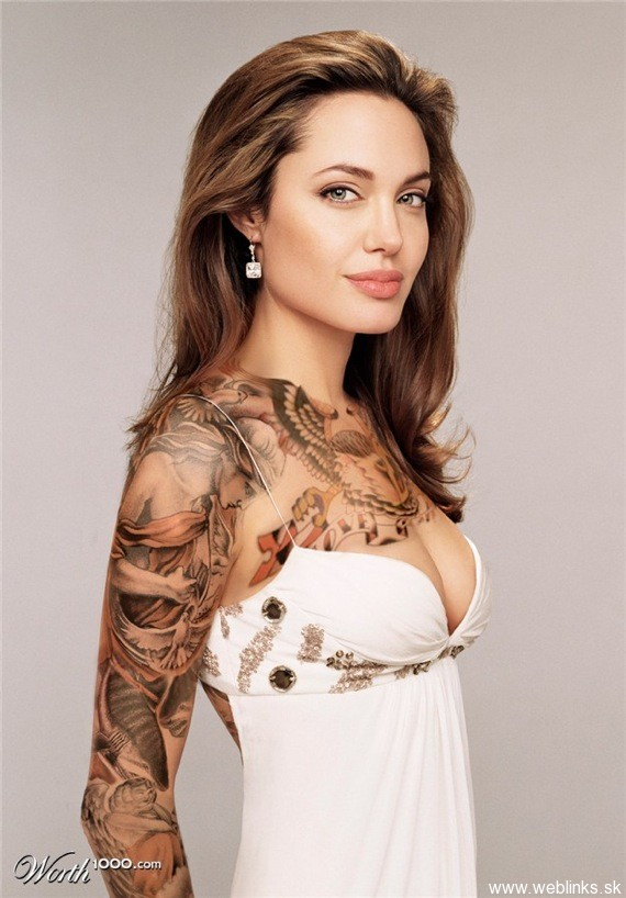 weblinks sk anglina jolie tattoo Potetované celebrity Angelina, Rihanna, Megan Fox, Katy Perry