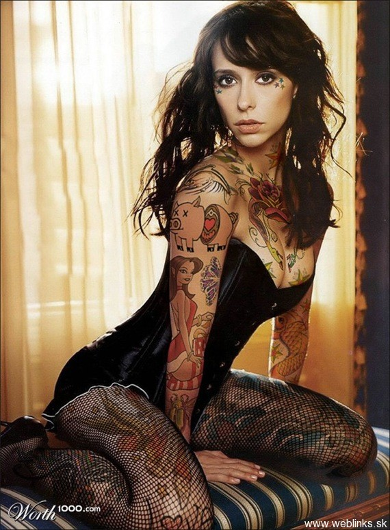 weblinks sk jennifer love hewitt tattoo Potetované celebrity Angelina, Rihanna, Megan Fox, Katy Perry