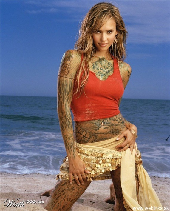 weblinks sk jessica alba tattoo Potetované celebrity Angelina, Rihanna, Megan Fox, Katy Perry