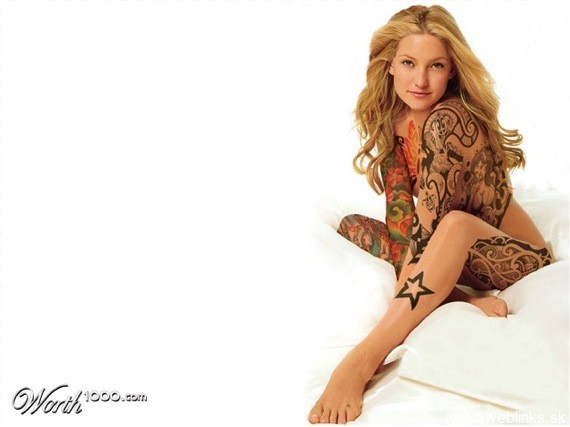 weblinks sk kate hudson tattoo Potetované celebrity Angelina, Rihanna, Megan Fox, Katy Perry