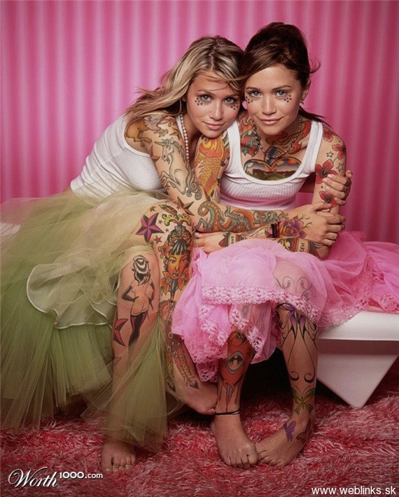 weblinks sk mary kate ashley olson twins tattoo Potetované celebrity Angelina, Rihanna, Megan Fox, Katy Perry