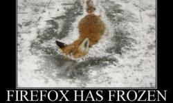 Keď zamrzne FIREF0X