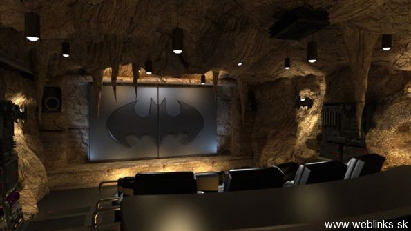Štýlové, domáce kino v jaskyni