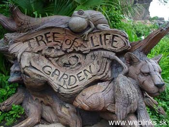 disney, Tree of life garden sign