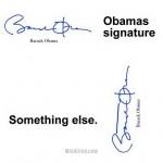 Obama sa podpisuje ako…