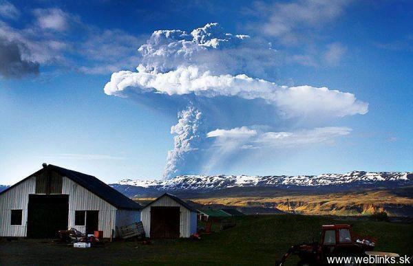 VULKANUTBRUDD på Island 21. mai