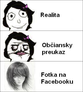 Facebook realita