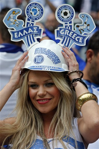 Soccer Euro 2012 Greece Czech Republic
