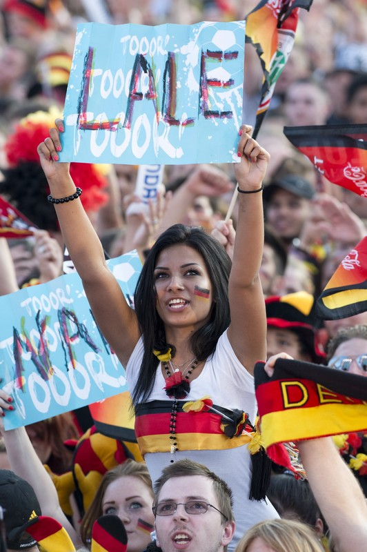 Supporters of the German national footba