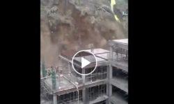 Zosuv pôdy na stavbe