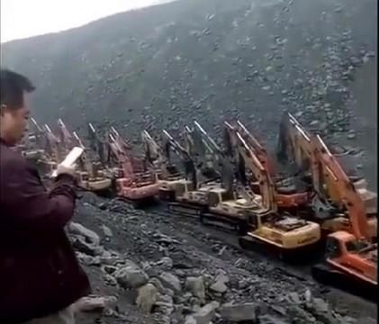 Migrácia bágrov v Číne